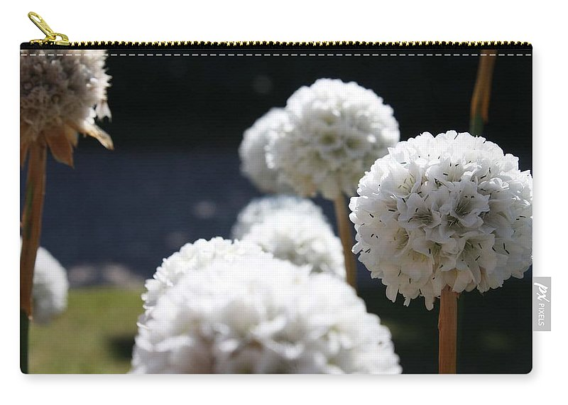 Aliums Carry-all Pouch featuring the photograph White Aliums by Vicki Cridland