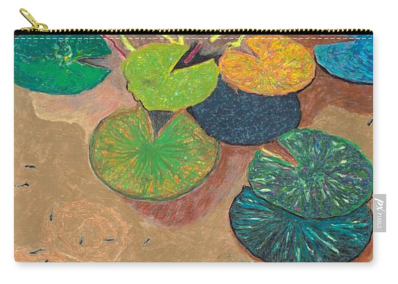 Landscape Carry-all Pouch featuring the painting White Lily by Allan P Friedlander