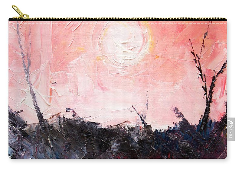 Duck Carry-all Pouch featuring the painting White Sun by Sergey Bezhinets