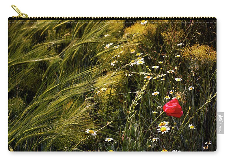 Photography Carry-all Pouch featuring the photograph Wild Flowers In The Field by Vicente Sargues