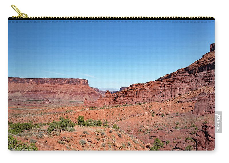Fisher Towers Carry-all Pouch featuring the photograph Wild Utah Landscape by Jim Thompson