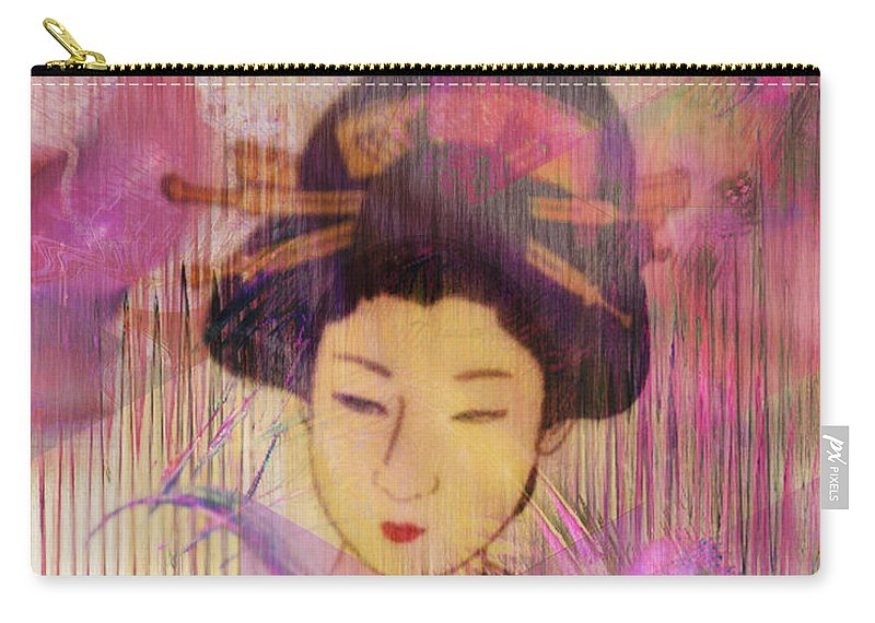 Willow World Carry-all Pouch featuring the digital art Willow World by John Robert Beck