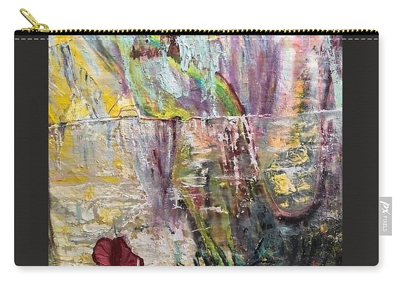Flower Carry-all Pouch featuring the painting Sunset on Wilmington  by Peggy Blood