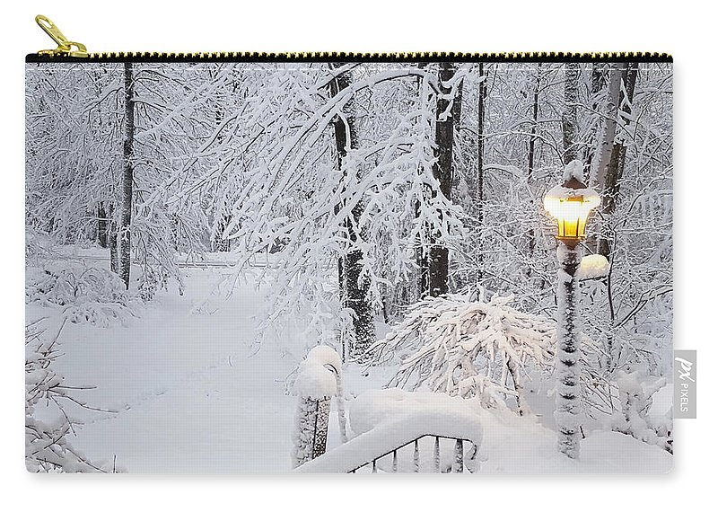 Winter Carry-all Pouch featuring the photograph Winter by Trevor Slauenwhite