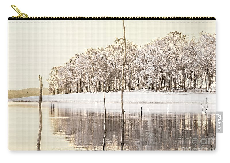 Landscape Carry-all Pouch featuring the photograph Winters Edge by Jorgo Photography - Wall Art Gallery