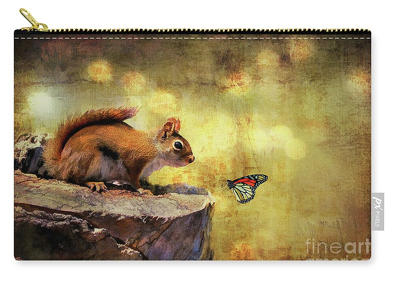 Wildlife Carry-all Pouch featuring the photograph Woodland Wonder by Lois Bryan