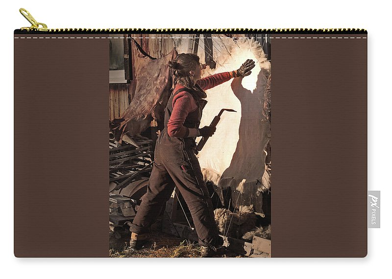 Native American Carry-all Pouch featuring the photograph Working with Shadow Spirit by Nancy Griswold