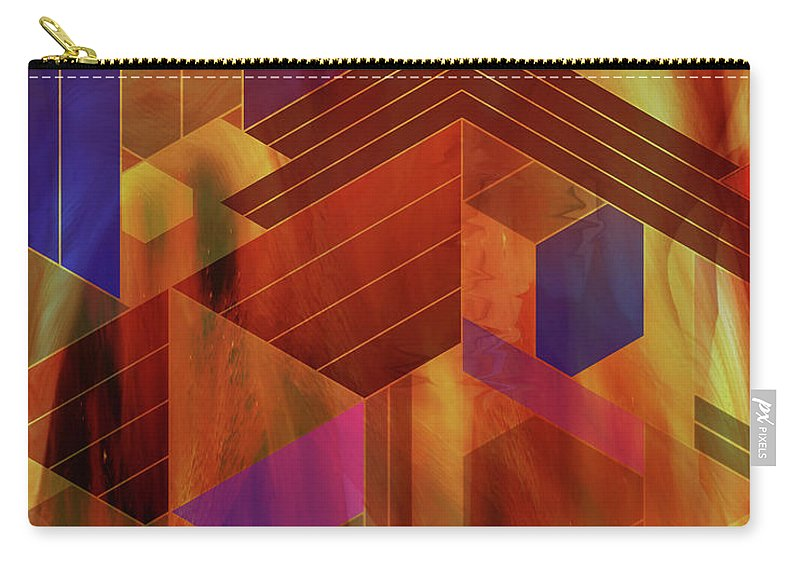 Wrightian Reflections Carry-all Pouch featuring the digital art Wrightian Reflections by John Robert Beck