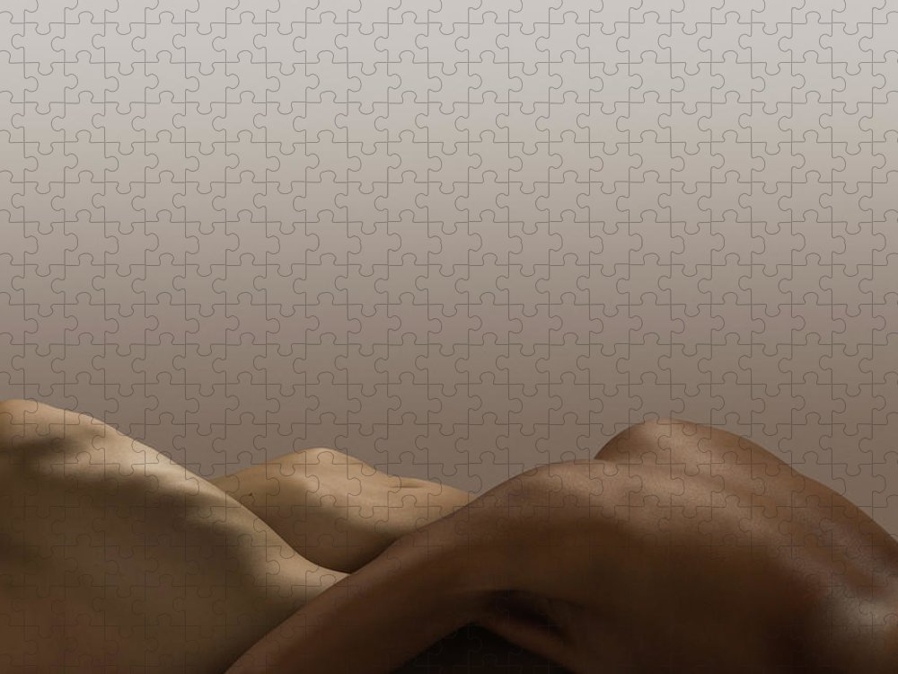 People Puzzle featuring the photograph Abstract Nude Bodies, Different Skin by Jonathan Knowles