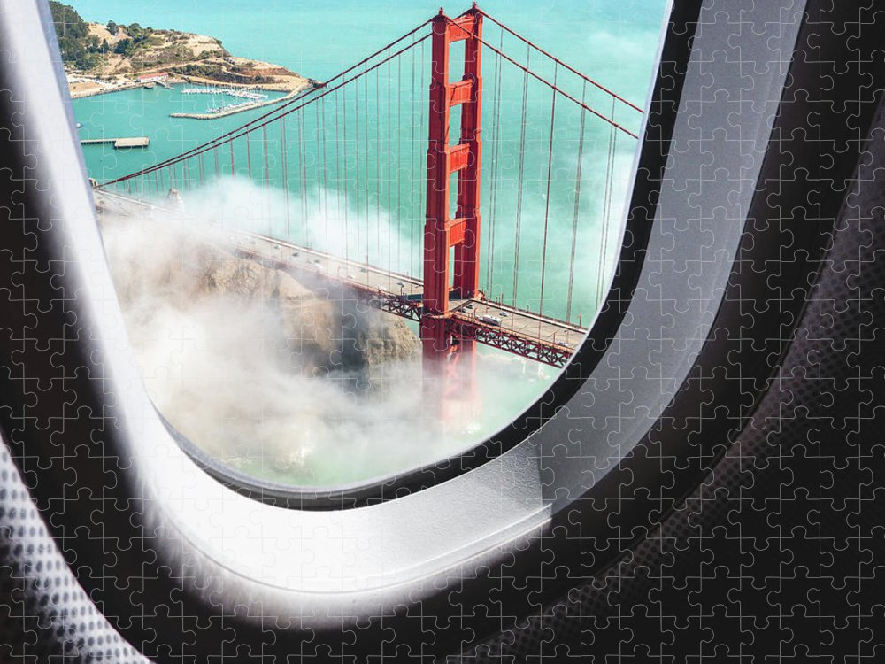Scenics Puzzle featuring the photograph Aerial View Of San Francisco Golden by Franckreporter
