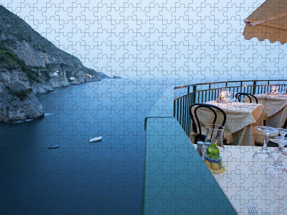 Tyrrhenian Sea Puzzle featuring the photograph Amalfi Coast In Campania, Italy by Davidcallan