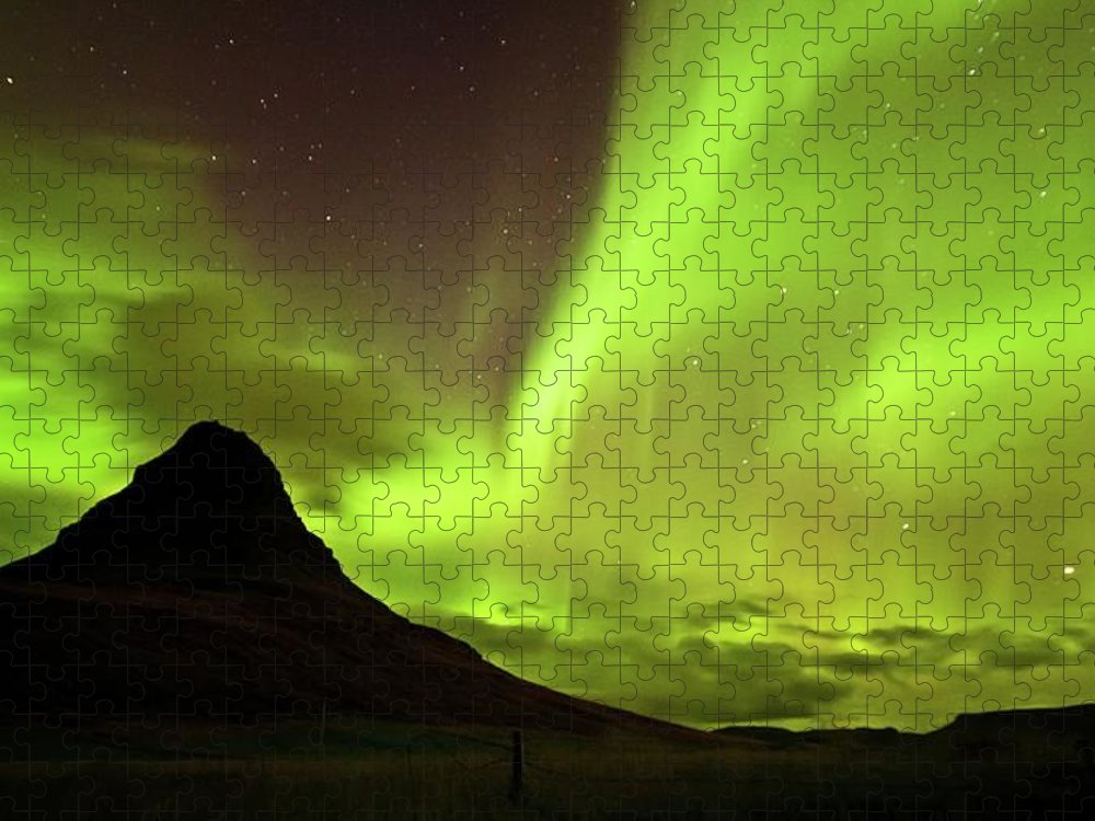 Scenics Puzzle featuring the photograph Aurora Borealis by Geinis