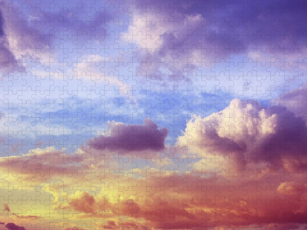 Scenics Puzzle featuring the photograph Beautiful Sunset Cloudscape by Blackred