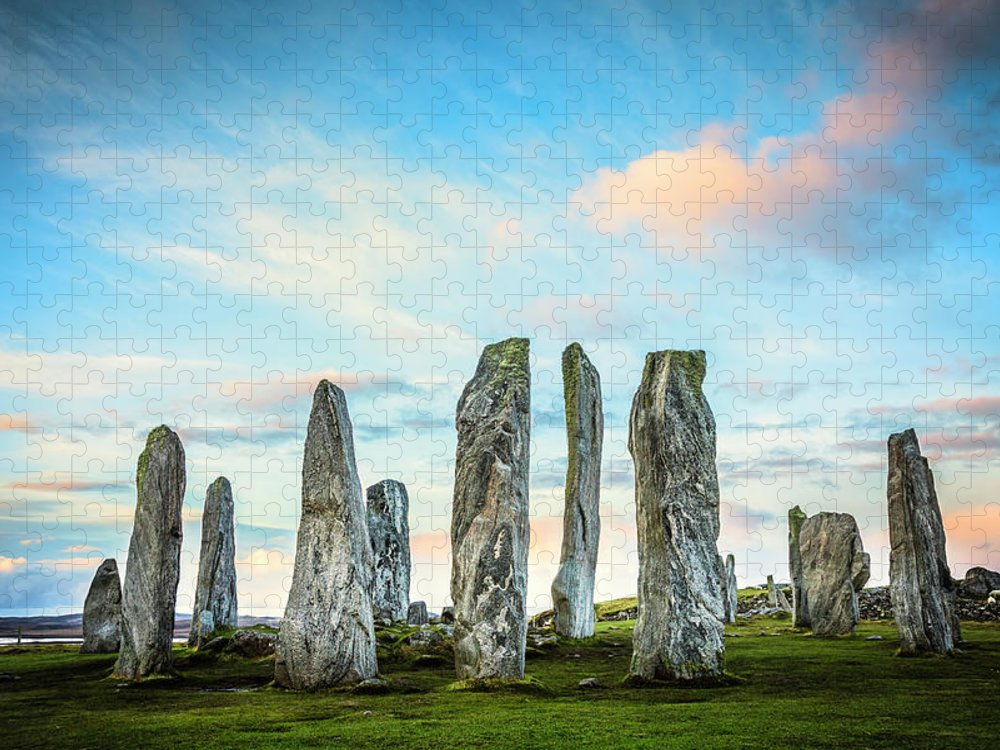 Prehistoric Era Puzzle featuring the photograph Callanish Standing Stones, Isle Of Lewis by Theasis