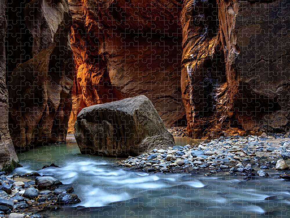 Scenics Puzzle featuring the photograph Canyon by Piriya Photography