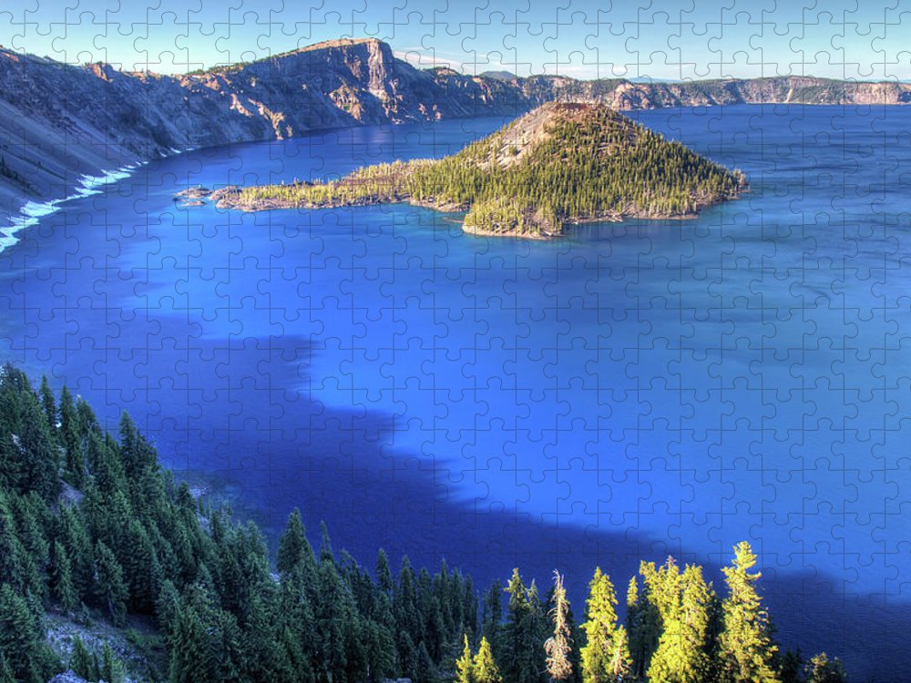 Crater Lake Puzzle featuring the photograph Crater Lake, Oregon by Pierre Leclerc Photography