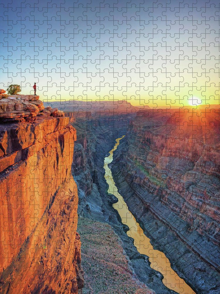 Scenics Puzzle featuring the photograph Grand Canyon, Toroweap Lookout by Michele Falzone