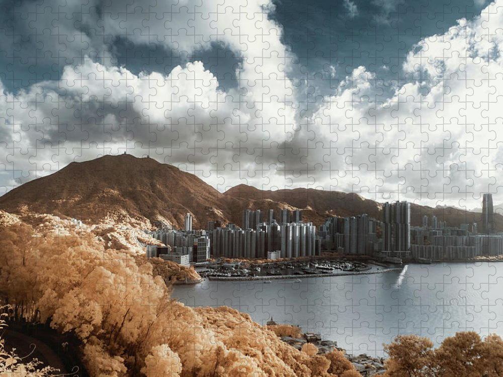 Tranquility Puzzle featuring the photograph Hong Kong by D3sign