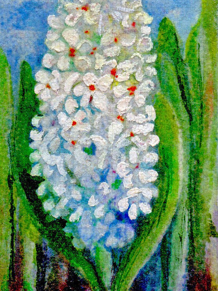 Art Puzzle featuring the painting Hyacinth by Elle Smith Fagan