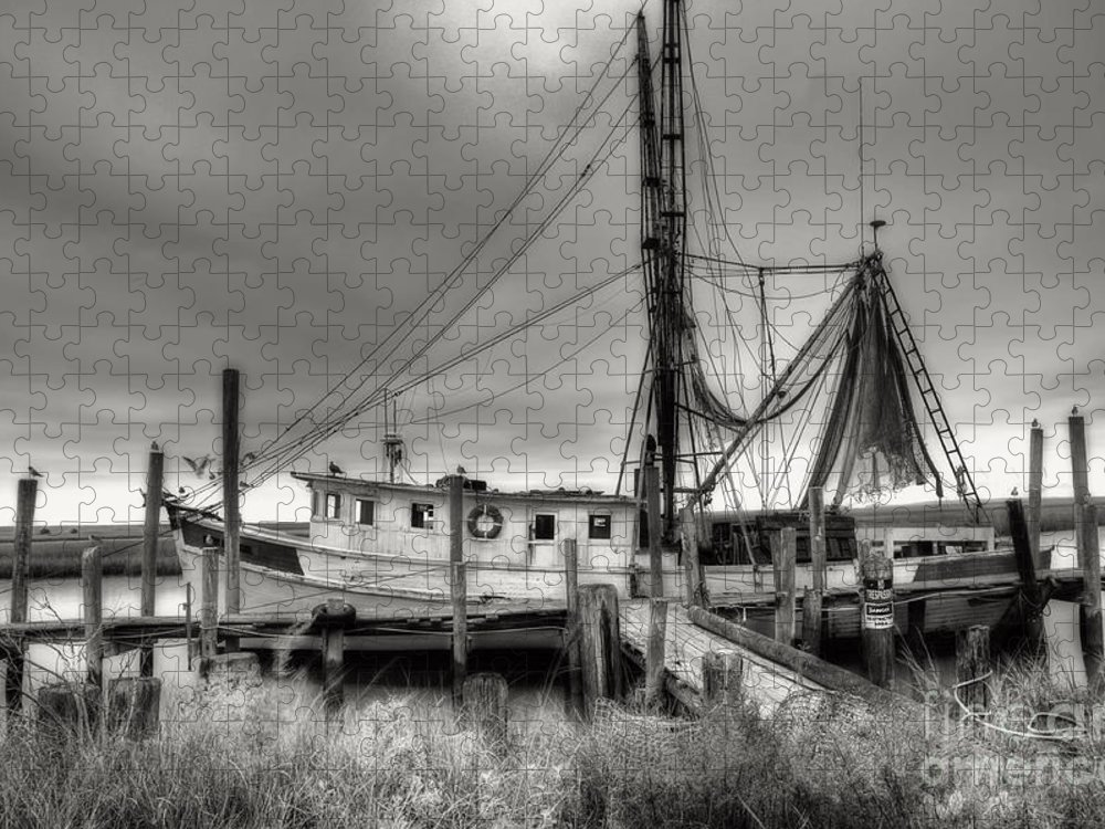 Shrimp Boat Puzzle featuring the photograph Lowcountry Shrimp Boat by Scott Hansen