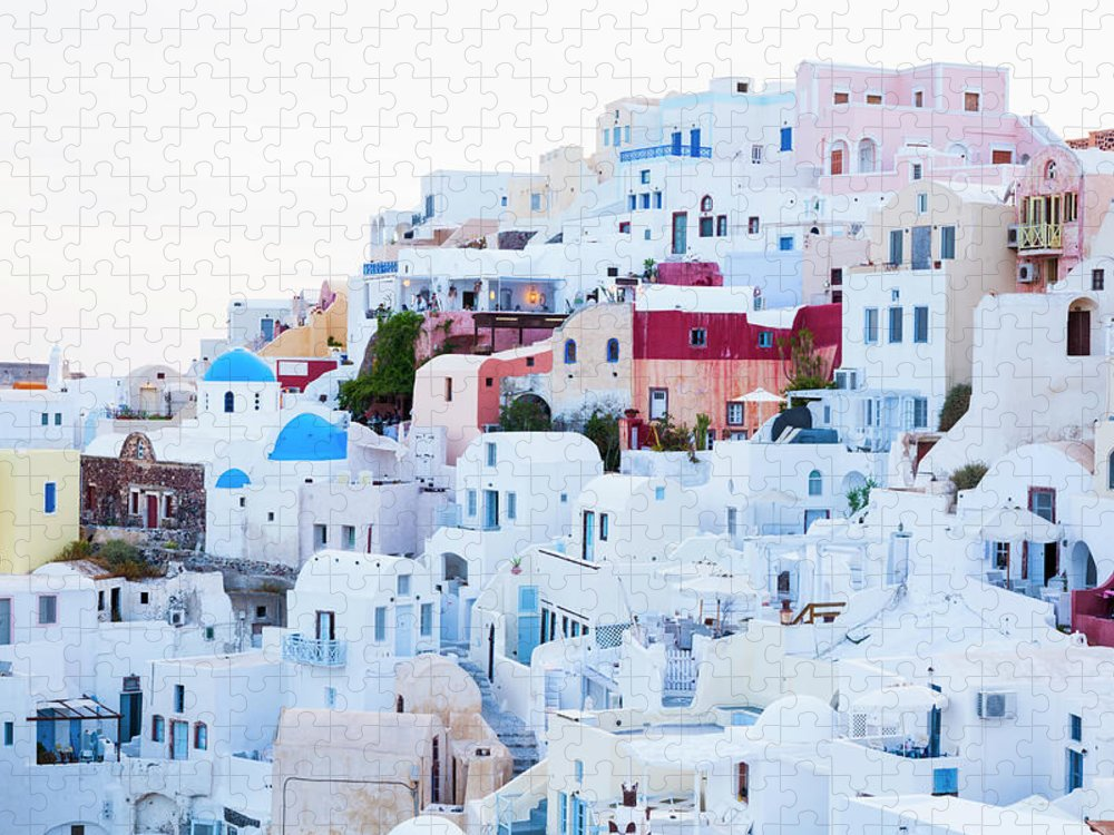 Tranquility Puzzle featuring the photograph Oia by Jorg Greuel