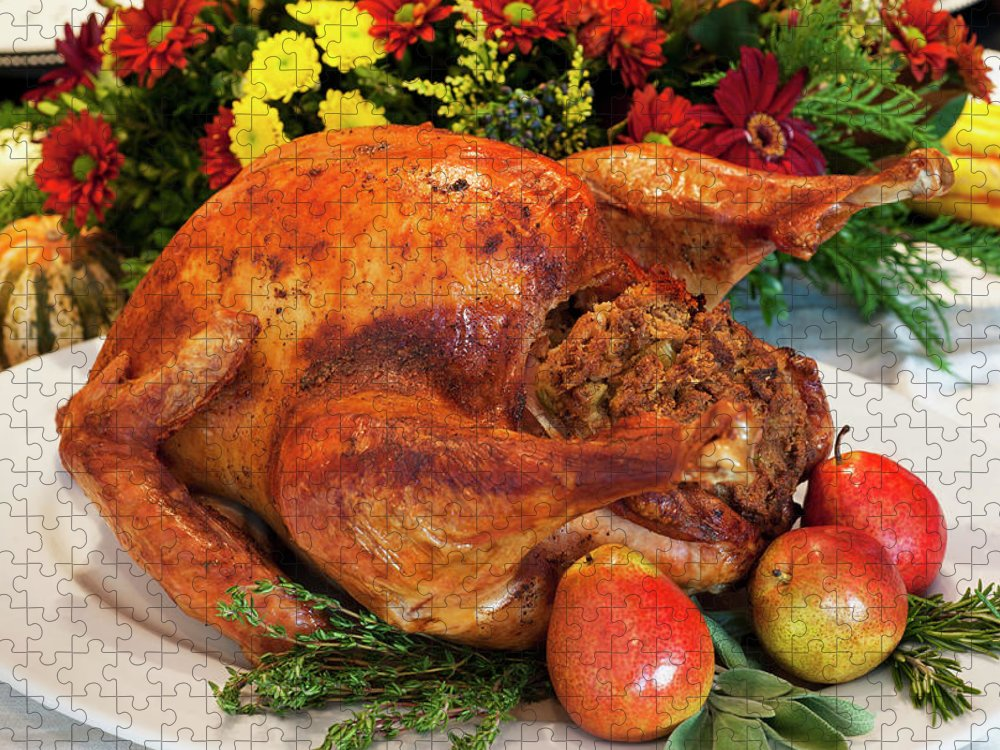 Stuffed Puzzle featuring the photograph Roast Turkey by Tetra Images