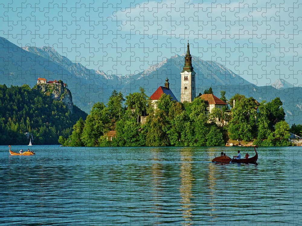 Slovenia Bled Lake Bled And Julian Puzzle For Sale By Tuul Bruno Morandi