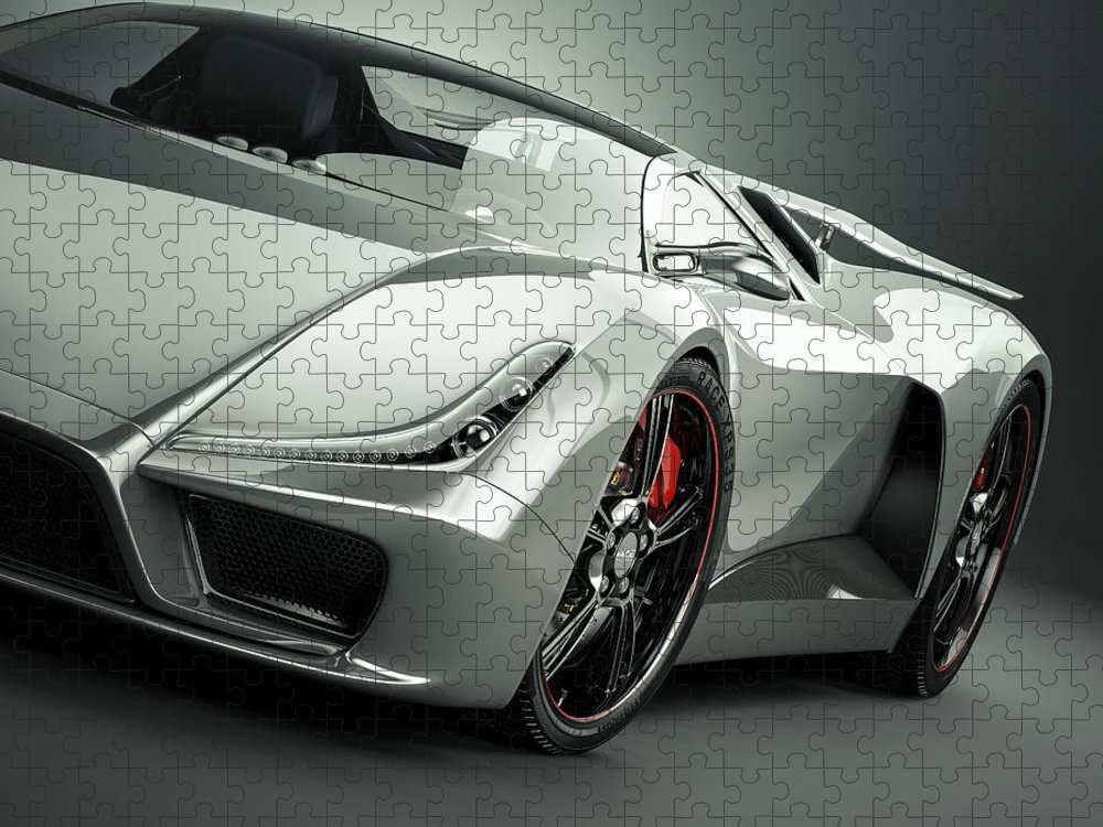 Aerodynamic Puzzle featuring the photograph Sports Car by Mevans
