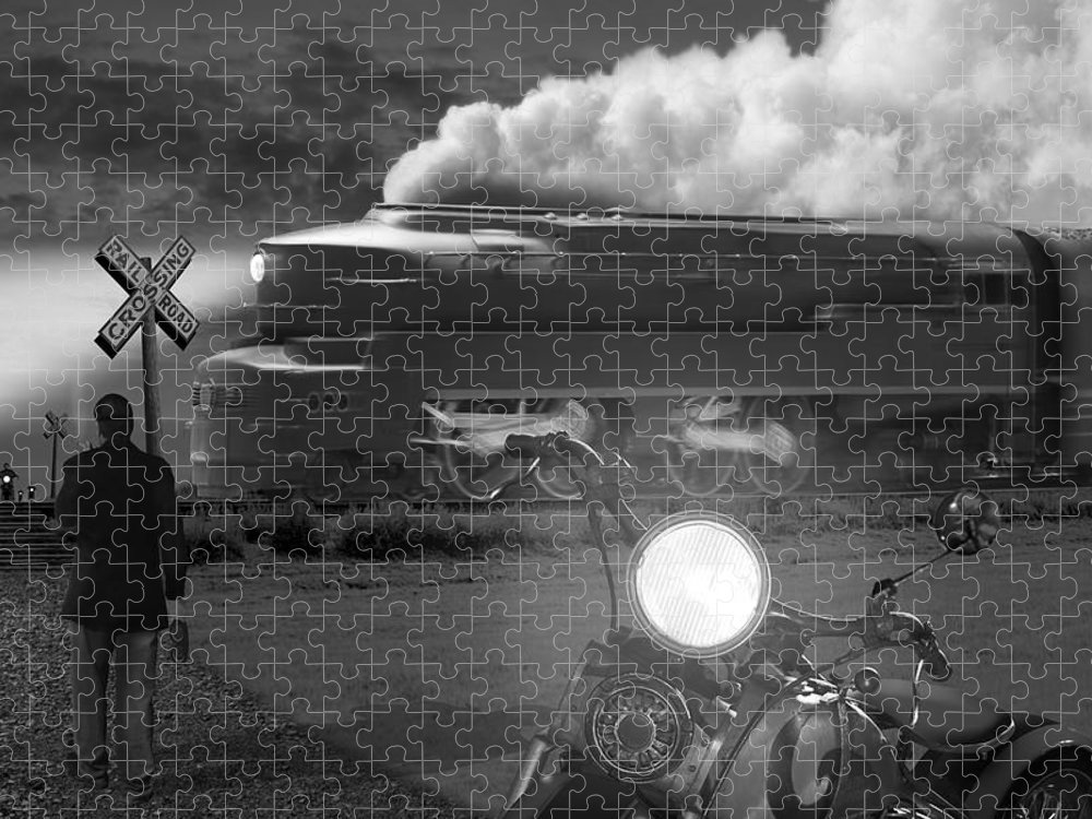 Transportation Puzzle featuring the photograph The Wait by Mike McGlothlen