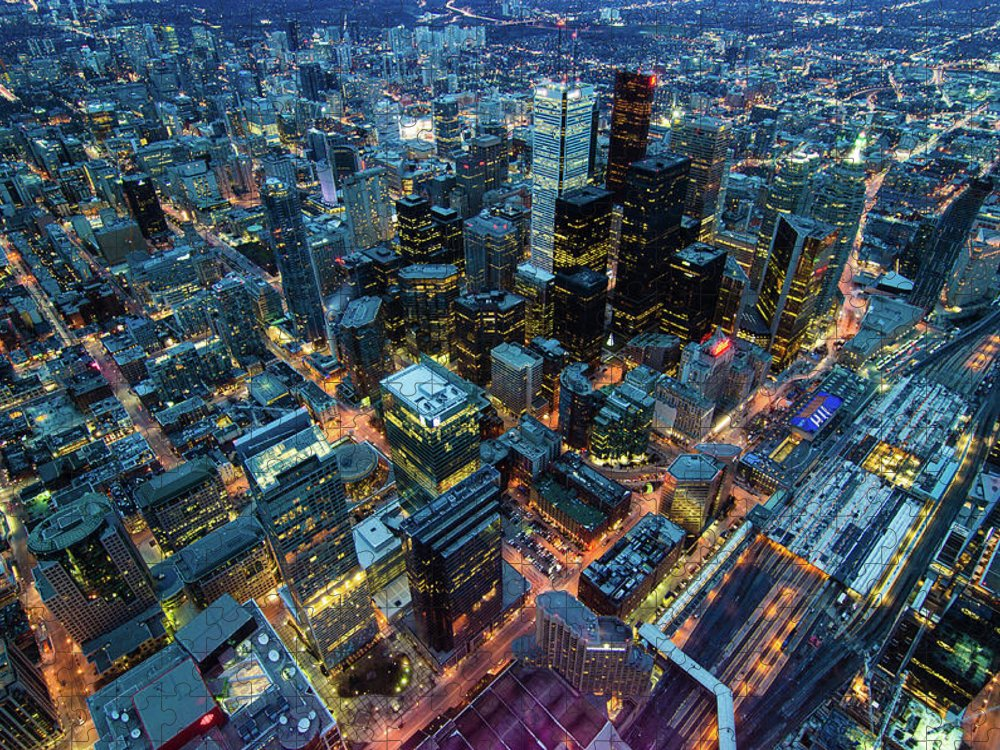 Toronto Puzzle featuring the photograph Toronto by Naeem Jaffer