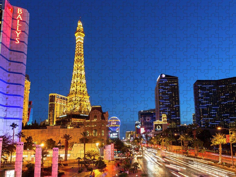 Las Vegas Replica Eiffel Tower Puzzle featuring the photograph Usa, Nevada, Las Vegas, Paris Las Vegas by Sylvain Sonnet