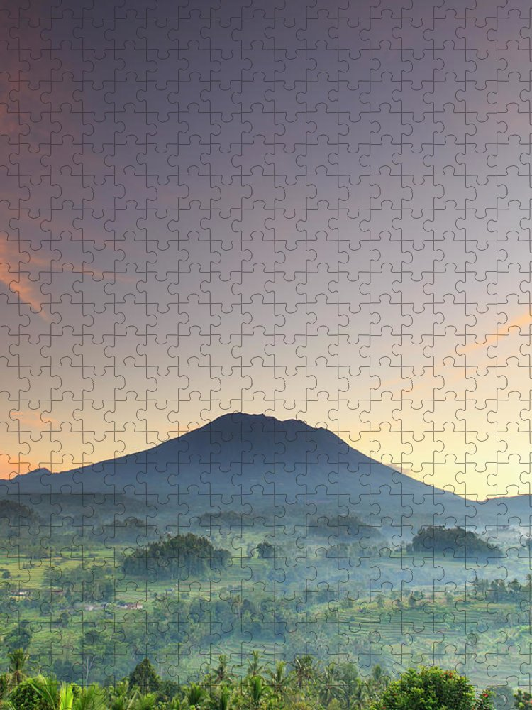 Scenics Puzzle featuring the photograph Indonesia, Bali, Rice Fields And by Michele Falzone
