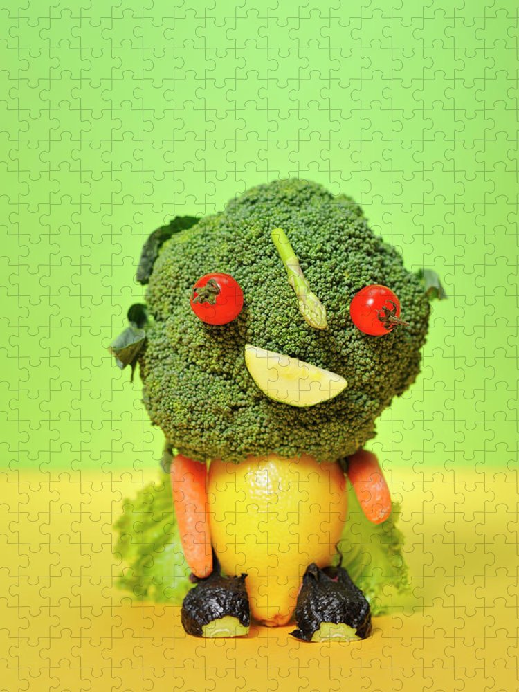 Leaf Vegetable Puzzle featuring the photograph A Vegetable Doll by Yagi Studio