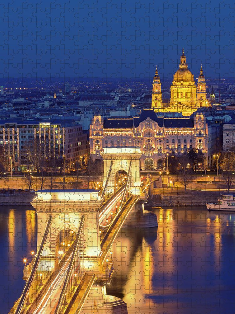 Viewpoint Puzzle featuring the photograph The Chain Bridge In Budapest by Ultraforma