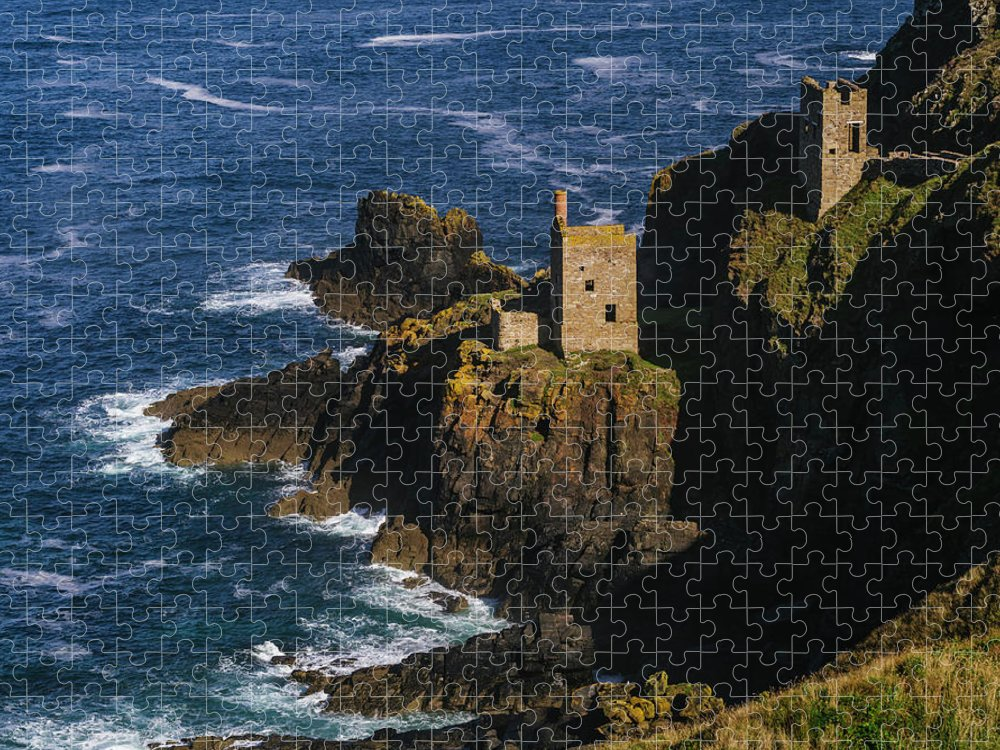Scenics Puzzle featuring the photograph Abandoned Tin Mines Near Bottalack by Doug Armand