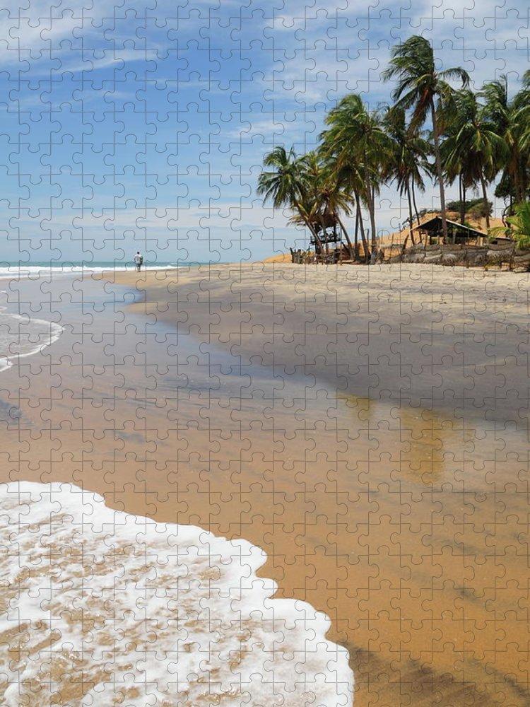 Water's Edge Puzzle featuring the photograph Arugam Bay,sri Lanka by Alan lagadu