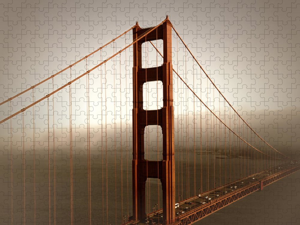 America Puzzle featuring the photograph Lovely Golden Gate Bridge by Melanie Viola