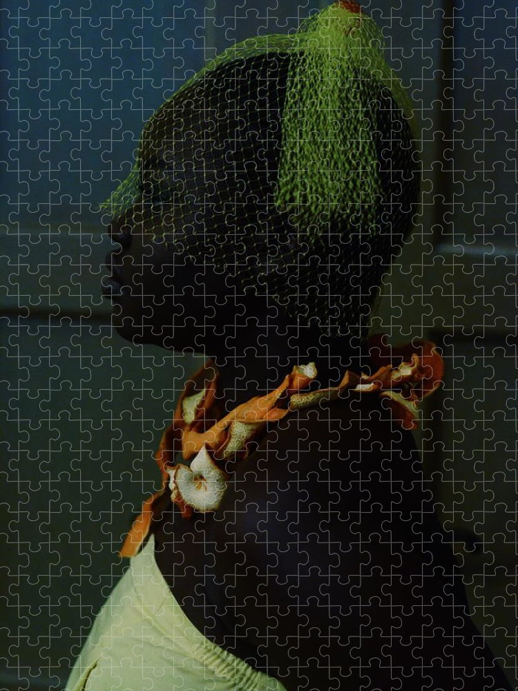 Headwear Puzzle featuring the photograph The Black Victorian by Stephanie Nnamani