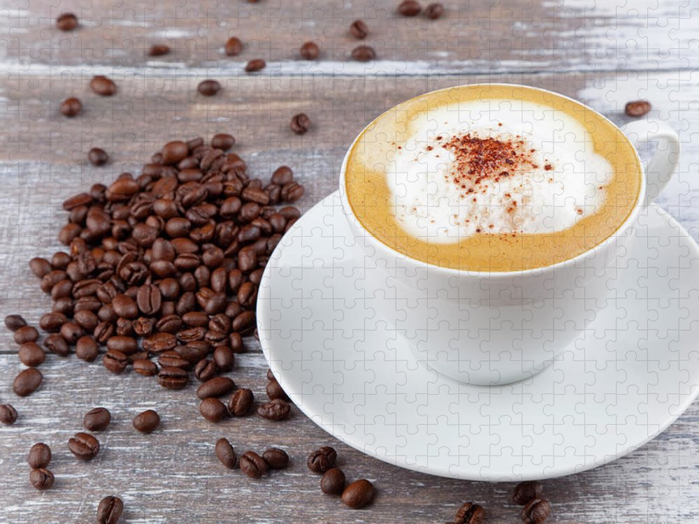 Cappuccino Puzzle featuring the photograph Coffee by Focusstock