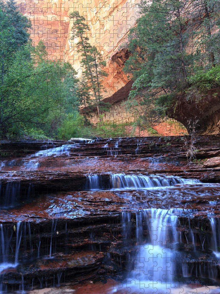 Scenics Puzzle featuring the photograph Zion Canyon National Park by Michele Falzone