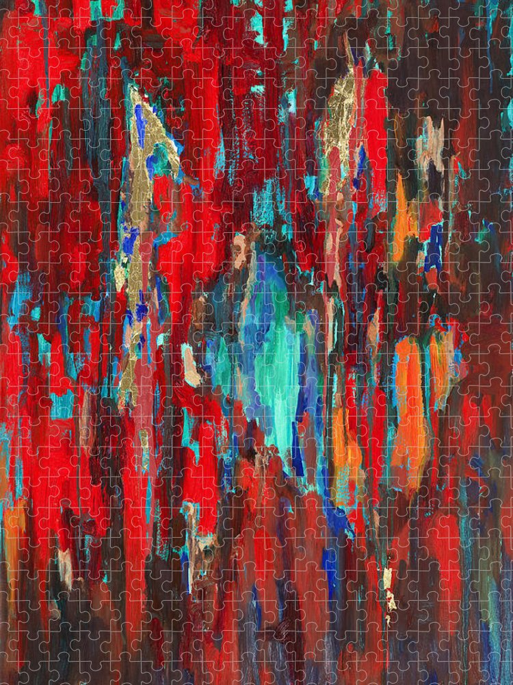 Abstract Art Puzzle featuring the painting A New Beginning by Billie Colson