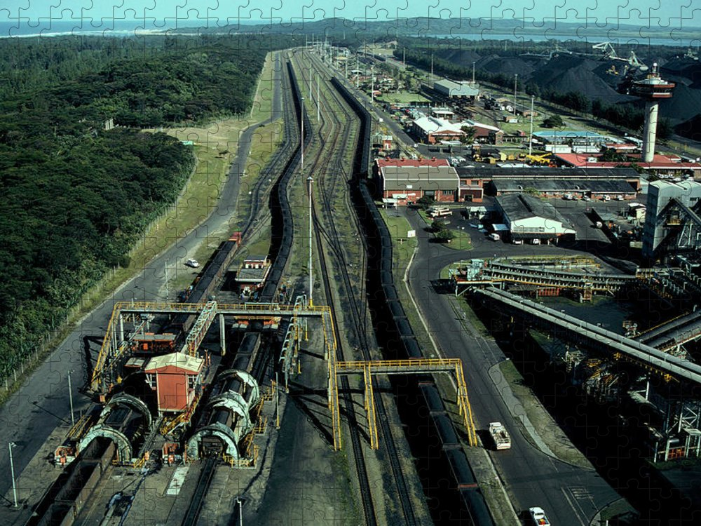 Freight Transportation Puzzle featuring the photograph Aerial View Of Large Coal Export by Beyondimages