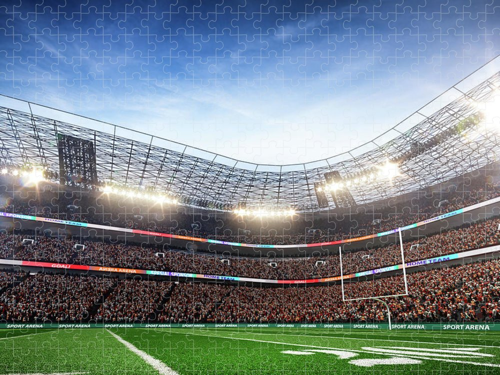 Financial Figures Puzzle featuring the photograph American Football Stadium Arena Vertical by Sarhange1