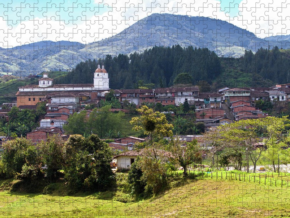 Tranquility Puzzle featuring the photograph Andean Town by Alejocock