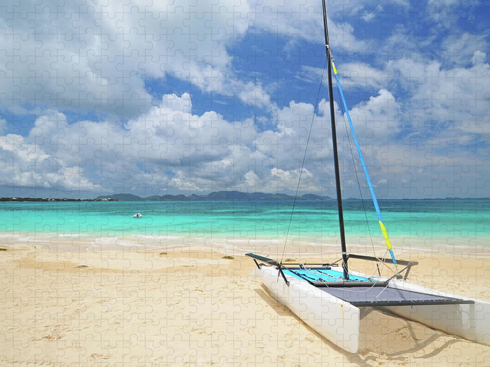 Sailboat Puzzle featuring the photograph Anguilla Beach by Maxian