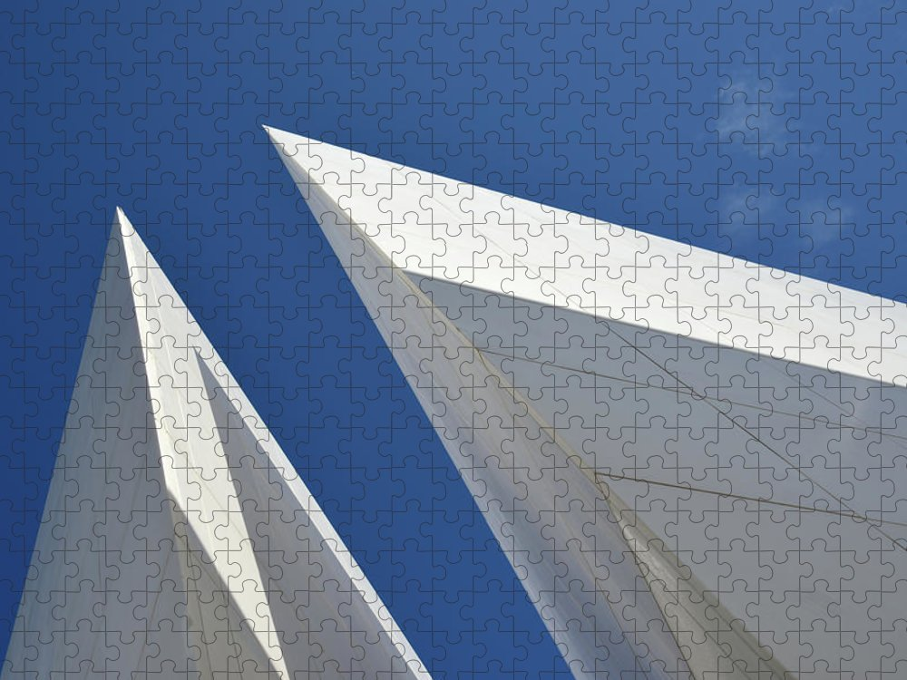 Tranquility Puzzle featuring the photograph Architectural Details by Martial Colomb