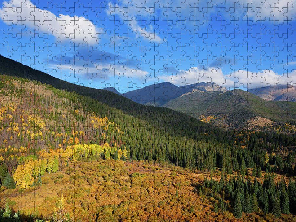 Scenics Puzzle featuring the photograph Autumn Color In Colorado Rockies by A L Christensen