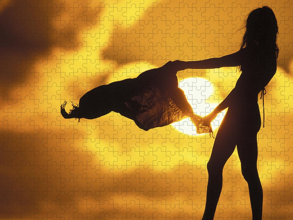 Beach Girl Puzzle featuring the photograph Beach Girl by Sean Davey