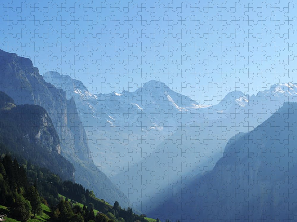 Scenics Puzzle featuring the photograph Beautiful Mountain Range by Phototalk