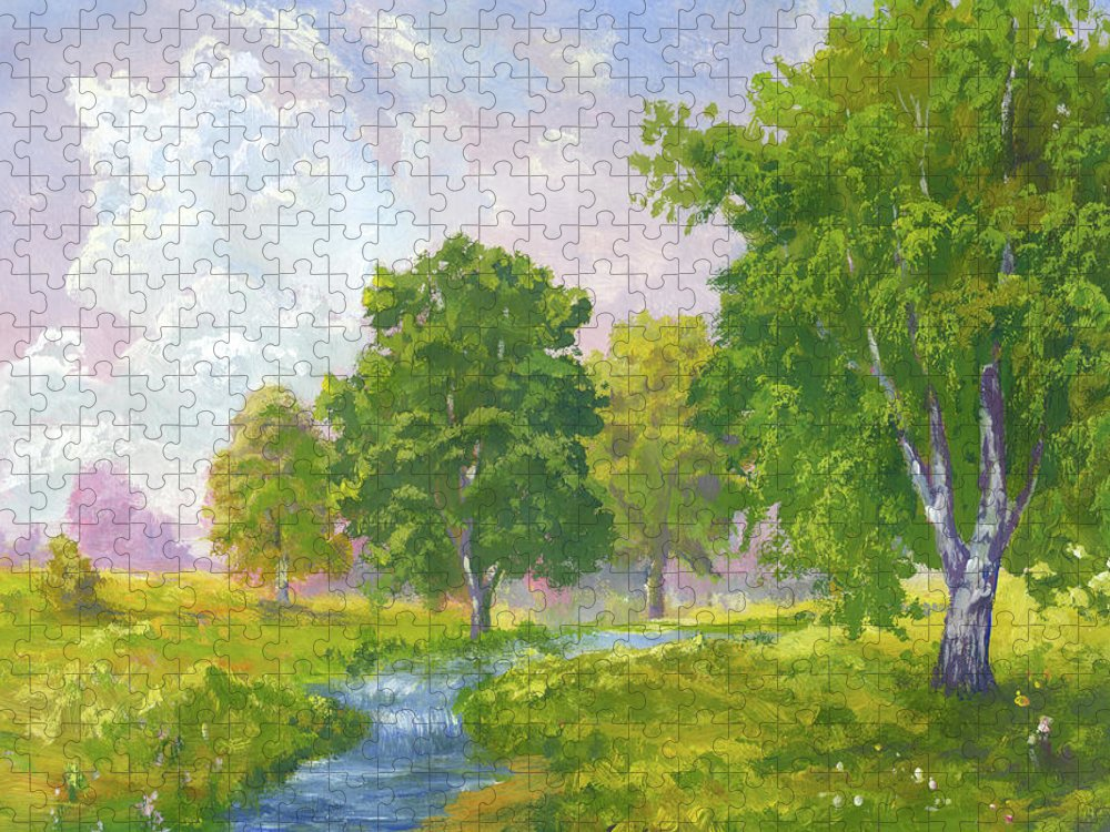 Scenics Puzzle featuring the digital art Beautiful Summer by Pobytov